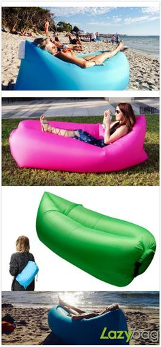 Inflatable Folding Sleeping Lazy Bag for Outdoor Camping. #Camping #outdoor #travel