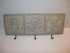 Vintage Irish Claddagh Celtic Knot Shamrock Coat Hanger Rack Wall Hanging | eBay