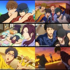 Just makes me smile so hard XD Manga Anime, Anime Art, Rin Matsuoka, Makoto Tachibana, Makoharu, Anime Bebe, Desenhos Love, Tamako Love Story, Swimming Anime