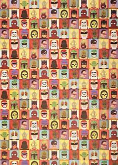 heroes & villains wrapping paper