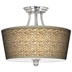 Seagrass Tapered Drum Giclee Ceiling Light  $149.99