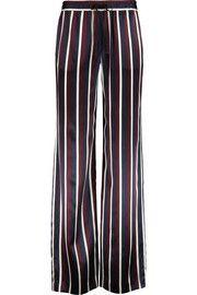 Pyjama striped silk-satin wide-leg pants | Joseph | UK | THE OUTNET