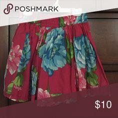 Hollister floral mini skirt Cute floral skirt Hollister Skirts Mini