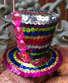 Make this full size  you would have a Blinged Out Crazy Glitzy Hat that only funky fun loving people of all ages would dare to wear!