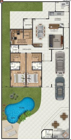 Casa 3 Quartos - 139.71m²