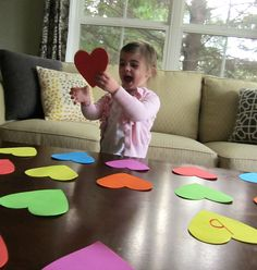 heart shaped upper and lower case memory game