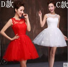 2015 new fashion elegant short graduation dresses for 8th grade graduation color white red lace graduation gown for girls