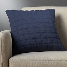 """18"""" quadro quilted navy pillow 