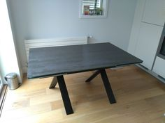 Extendable version of our dining table Xenon with Blaze Dark ceramic top and black matt legs. Available in other sizes. Delivered to our client in Brentford. Brentford, Leather Bed, House Extensions, Sofa Design, Modern Bedroom, Contemporary Furniture, Sideboard, Sofas, Room Ideas
