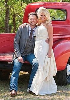 Blake Shelton and Miranda Lambert's wedding ph