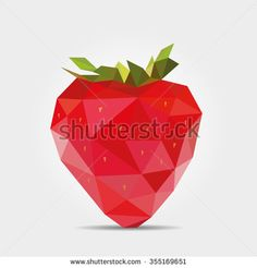Polygonal Strawberry in Vector