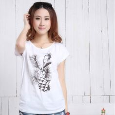 FASHION women t shirt F114 spring and summer women's hot-selling women's short-sleeve  100% cotton  clothes $10.75