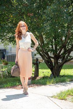 IMG_3210 Zara skirt, Chicwish top, LV Damier