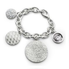 Monica Rich Kosann : Fine Jewelry at MRK Style - Sterling Silver Multi-Disc Bracelet