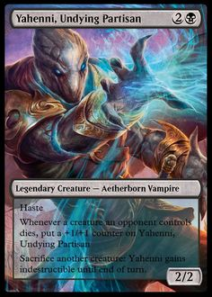 Proxy card of Mtg's Yahenni, Undying Partisan card. the proxy card is made by me, Rowan Hepple. Artwork is done by Jason Engle and belongs to him and Wizards of the Coast. Mtg Altered Art, Thing 1, Legendary Creature, Alternative Art, Magic Cards, Wizards Of The Coast, Magic The Gathering, Alters, Rowan