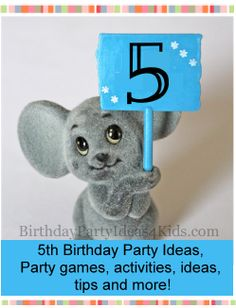 Birthday party ideas for 5 year olds.  Fun birthday party themes, five year old party games, timeline, party planning help, activities and more for the fifth birthday!  http://www.birthdaypartyideas4kids.com/5-birthday.html