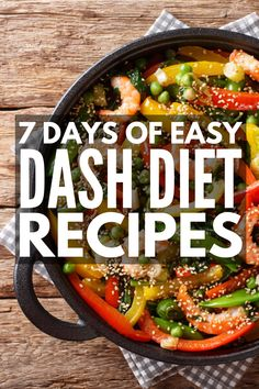 Designed to lower your blood pressure, this DASH Diet for weight loss includes yummy mix and match recipes and snacks you'll love! Best Fat Burning Foods, Best Weight Loss Foods, Diet Plans To Lose Weight Fast, Healthy Food To Lose Weight, Healthy Diet Plans, Weight Loss Meal Plan, Healthy Foods To Eat, Healthy Recipes, Snack Recipes
