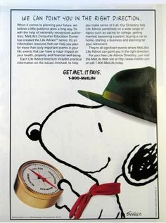 marketing for your online venture Metlife Snoopy, Peanuts By Schulz, Snoopy And Woodstock, Life Magazine, Print Ads, Advertising, Meet, How To Plan