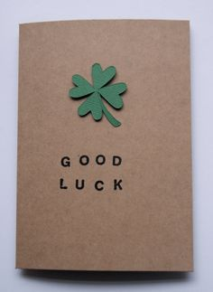 Good Luck Card via Etsy