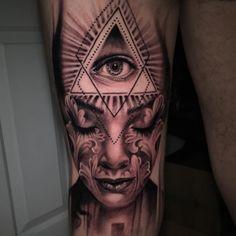 Illuminati Tattoo and portrait  - http://tattootodesign.com/illuminati-tattoo-and-portrait/  |  #Tattoo, #Tattooed, #Tattoos