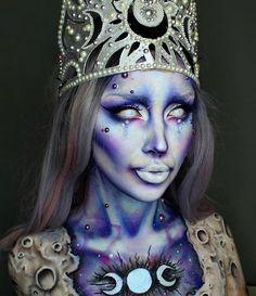 Avant Garde beauty look using Mehron Makeup