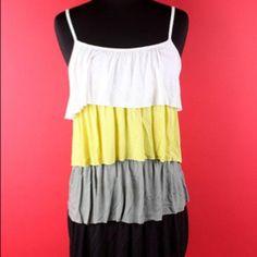 Fashion ruffle layer top Www.teeforthesoul.com