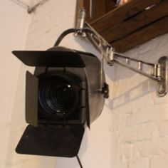 Vintage Furse theatre wall light with barn doors and double arm bracket