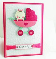 Cute; cricut baby steps card idea.
