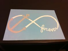 This made with an arrow or angel wing incorporated into the infinity symbol would be perfection!
