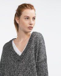 Image 5 of SEQUINNED SWEATER from Zara Zara Women, Knitwear, Men Sweater, Knitting, Image, Fashion, Moda, Tricot, Tricot