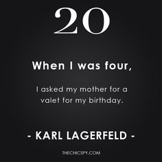Karl Lagerfeld quoted