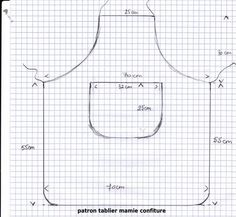 Patron tablier enfant - Pinboards Tutorial and Ideas Sewing Hacks, Sewing Crafts, Sewing Projects, Child Apron Pattern, Adult Bibs, Sewing Aprons, Apron Designs, Kids Apron, Couture Sewing