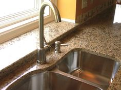 Kitchen Faucets For Granite Countertops Kitchen Interior, Kitchen Inspirations, Countertops, Granite Countertops, Kitchen Remodel, Kitchen Faucet, Modern Faucet, Small Kitchen Renovations, Black Kitchen Sink