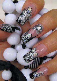 Affordable Pink Nail Art Ideas You Can Copy 46 Fabulous Nails, Gorgeous Nails, Pretty Nails, French Nails Glitter, Fancy Nails, Pink Nail Art, Pink Nails, Silver Nails, Beautiful Nail Designs