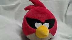 Commonwealth Rovia Angry Birds Red Bandit  Stuffed Plush Animal Soft Toy 8in