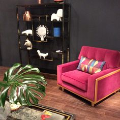 The G Plan Vintage Fifty Nine Armchair In Matt Velvet Berry, On Show At The  January Furniture Show