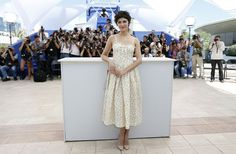 Cannes 2013: French actress and mistress of ceremonies Audrey Tautou looked lovely in a floral Valentino dress.