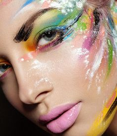 Rainbow make up!