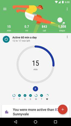 Google Fit - 追蹤您的健身資料 - 螢幕擷取畫面