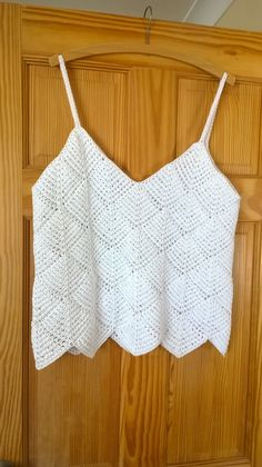 Tunisian Diamond Ladies' Summer Top/Vest by GillBux on Etsy