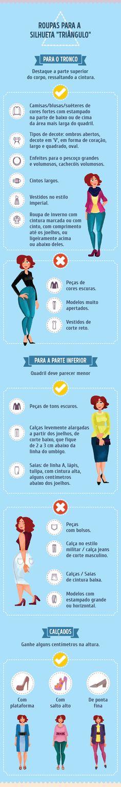 Escolha as roupas adequadas e valorize seus pontos fortes