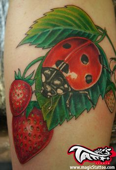 LADYBIRD TATTOO BY MARIO FROM MAGIC'S TATTOO STUDIO, CORK CITY, IRELAND