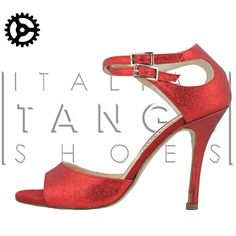 """Soho"" model, in red glitter fabric  http://www.italiantangoshoes.com/shop/en/alagalomi/274-alagalomi.html"