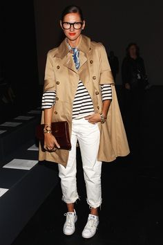 Tan and white. And stripes!