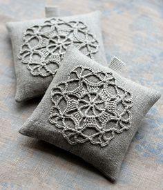 Lavender sachets  crochet motif  set of 2 by namolio on Etsy, $18.00