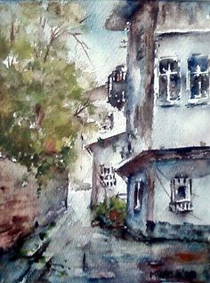 Mualla Özdemir Türkish Artist Painter Watercolor