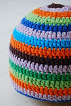 colorful handmade baby hat