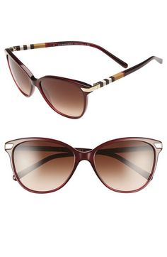burberry 55mm modified cat eye