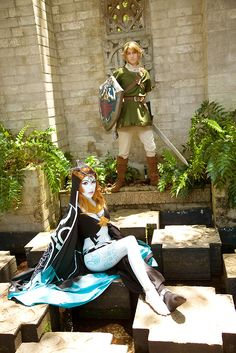 Midna (true form) and Link - The Legend of Zelda: Twilight Princess; cosplay