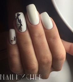 Accurate nails, Beautiful white nails, Butterfly nail art, Evening dress nails, Evening nails, Long nails, Manicure by summer dress, Nails with stickers